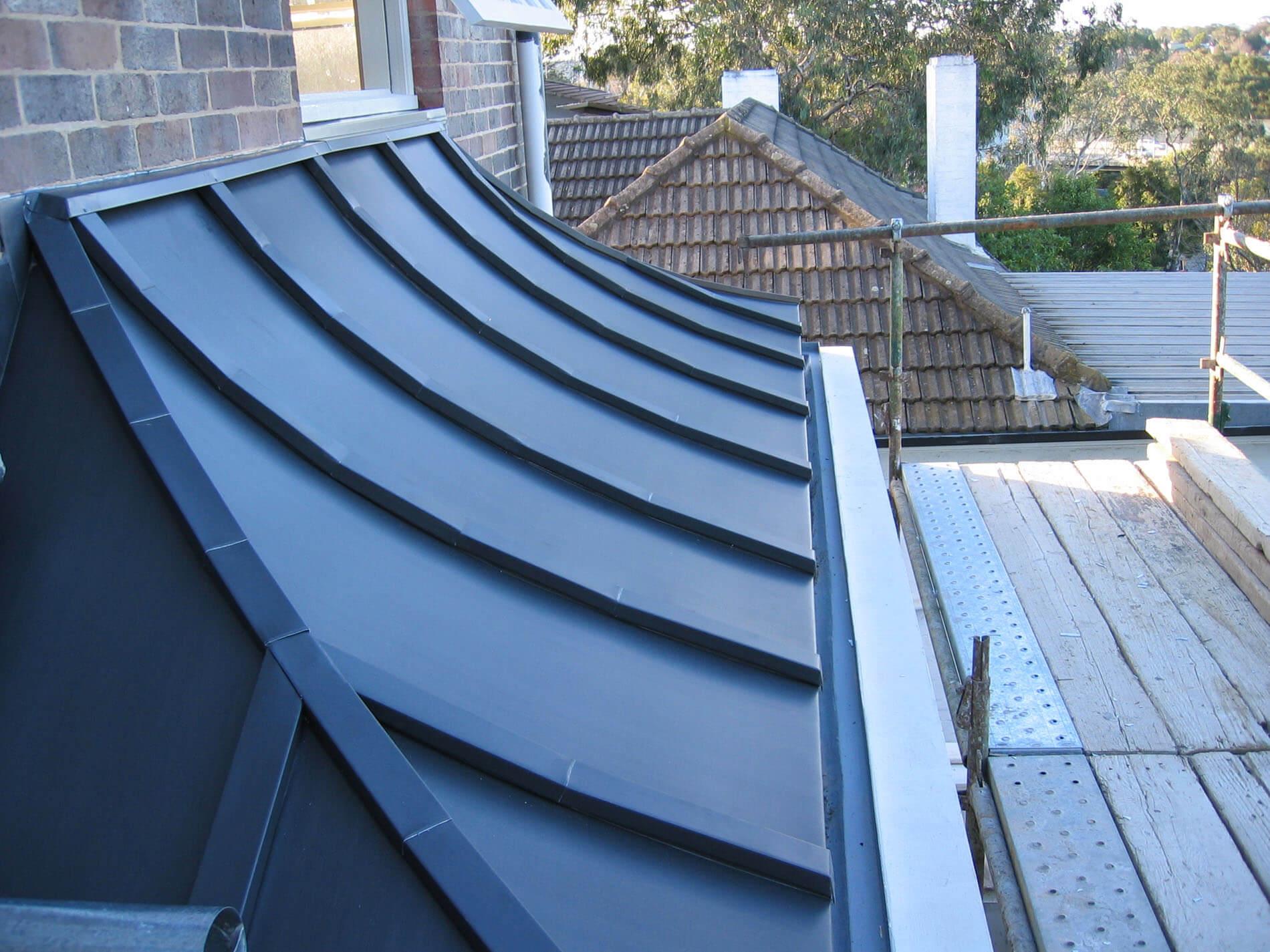 VM Zinc (Anthra) Batten Seam Roof